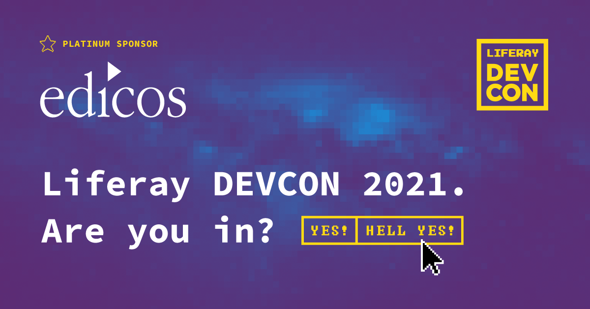Liferay Devcon 2021 – edicos als Platin Sponsor